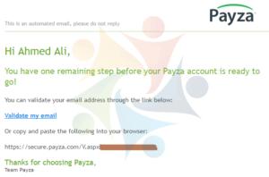 فتح حساب في بنك بايزا